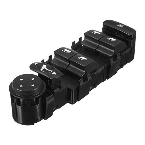 FangFang Panel de Interruptor de la Ventana del Control de la Ventana de Control eléctrico Ajuste para Citroen C4 04-10 6554.ha (Color : Black)