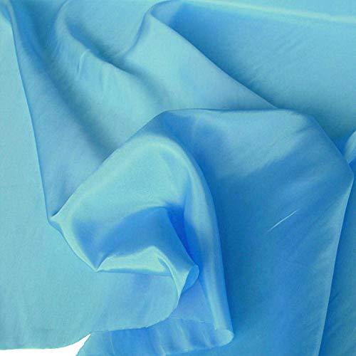 TOLKO 1m Futterstoff | Futter-TAFT als Dekostoff universal Stoff zum Nähen Dekorieren | Blickdicht knitterarm | 150cm breit Modestoff Hochzeitsstoff Kleiderstoff Kostümstoff Meterware (Türkis)