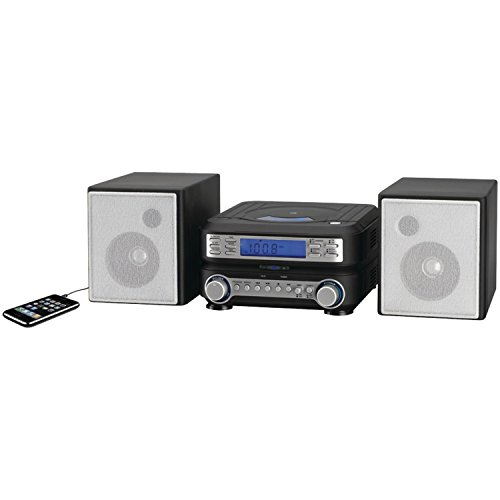 GPX HC221B Compact CD Player Stereo Home Music System with AM/ FM Tuner Black/Silver
