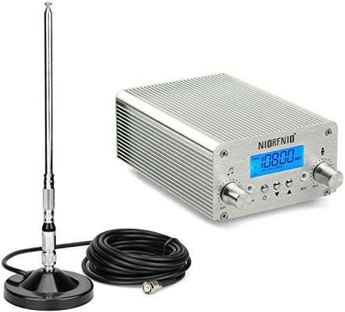 15W FM Transmitter Radio Stereo Station, Wireless Broadcast Antenna for Church Supermarket School, Fm Signal goes to 1 Mile Radius 87~108MHz FM Radio Transmitter High-Fidelity Audio FM Transmitter