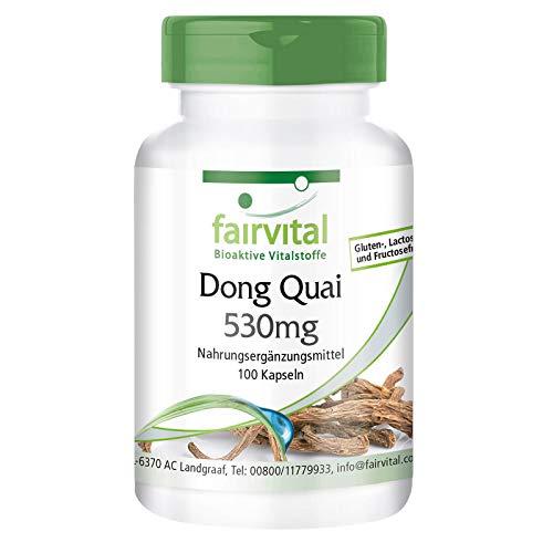 Dong Quai Kapseln 530mg - HOCHDOSIERT - VEGAN - 100 Kapseln - Angelica sinensis