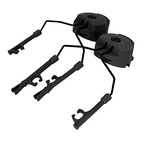 TAC-SKY ARC Rail Adapter Helmet Headset Left & Right Side Attachments for Comta Headphones (Black)