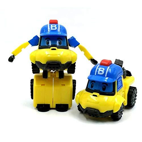 XKMY Juguetes de plástico Wild Animal 6 estilos coreanos para niños, robot de transformación Poli Amber Roy Juguetes para coches Figura de acción Juguetes para niños Los mejores regalos (color 4)