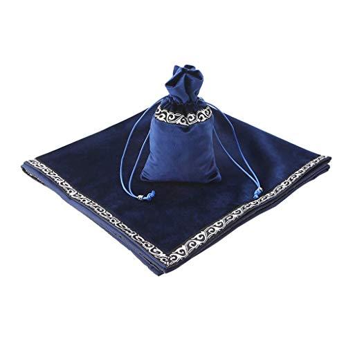 No logo Kppto Tarot-Karten-Tasche Tischdecke Tischdecke Divination Velvet Tapestry (Farbe : Blue)