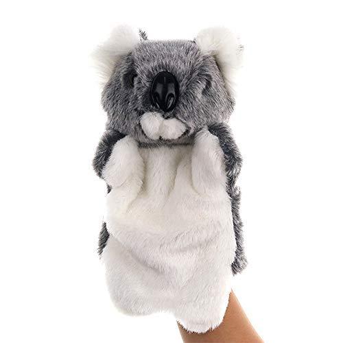 JIAL Mano de Peluche Mano marioneta Forma Animal Koala Koala Oso bebé muñeca niño Dedo Juguete Suave Juguetes Chongxiang