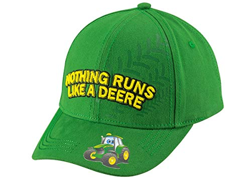 John Deere Kinder Cap Nothing Runs Like A Deere Grün