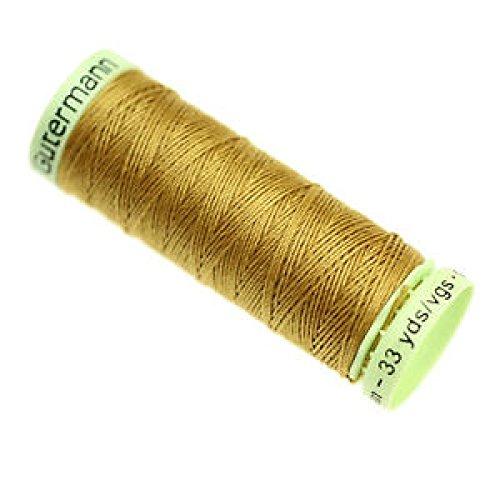 Gutermann Filo per impuntura per Jeans, Poliestere, Color Oro Antico, 30Metri