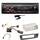 Pioneer MVH-S420BT Bluetooth Autoradio USB AUX MP3 FLAC AAC WAV Einbauset kompatibel mit BMW E90 E91 E92 E93