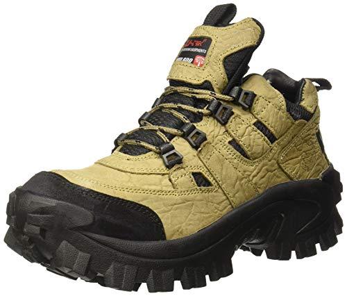 Woodland Men's Khaki Leather Sneakers-11 UK/India (45 EU) (G 40777CMA)