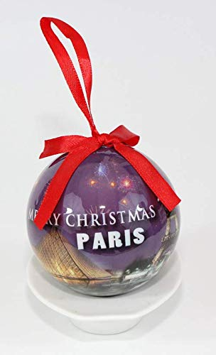Paris France Souvenir Collectible Christmas Ball Ornament