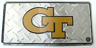 "NCAA Georgia Tech Yellow Jackets Diamond Cut 6"" x 12"" Embossed Aluminum License Plate"