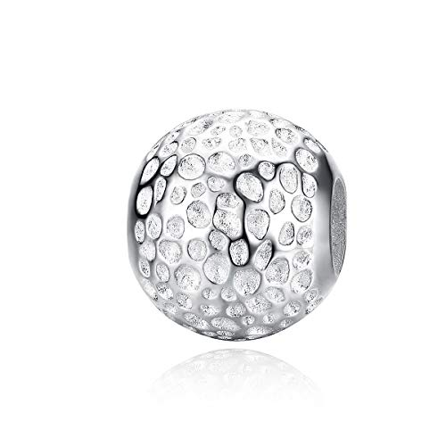Abalorio de pulsera de plata de ley 925 con textura de estrellas, compatible con pulseras Pandora, pulseras europeas