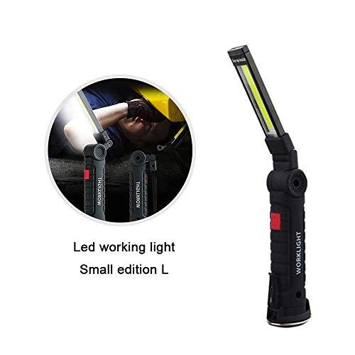 Womdee USB Ricaricabile Torcia Lampada, Luce di Lavoro, COB LED Magnetic Work Light Mini Torcia elettrica Portatile con Base Magnetica e Gancio per Riparare, Officina, Uso di Emergenza