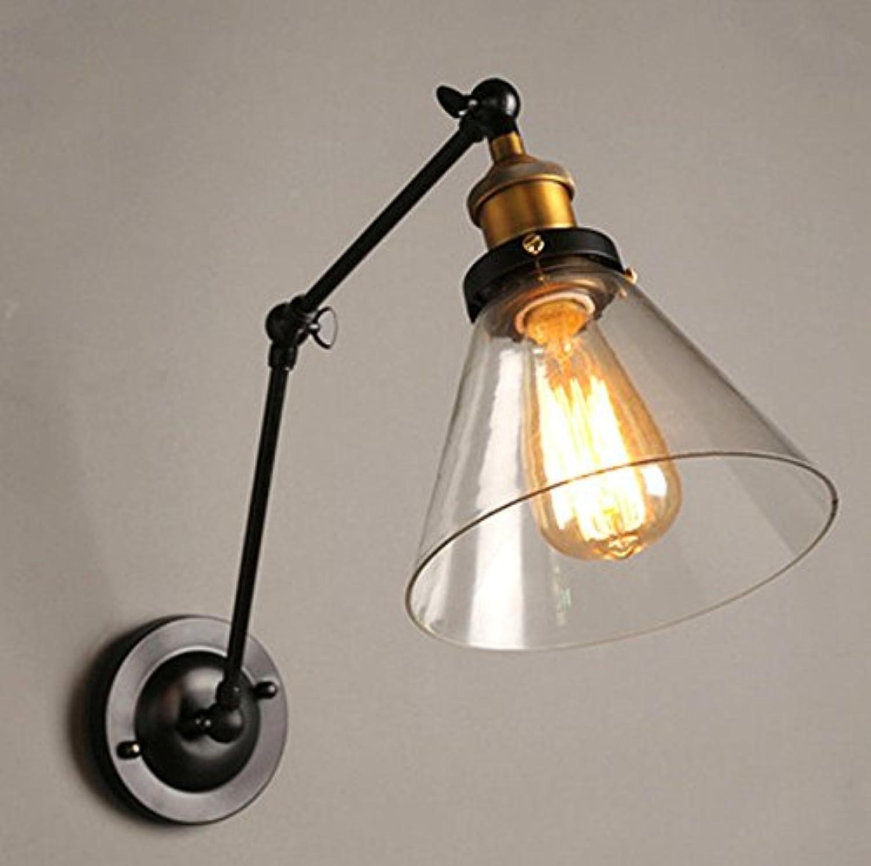 StiefelU LED Wandleuchte nach oben und unten Wandleuchten Retro Schlafzimmer Nachttischlampe road outdoor Glas Wand Licht aus, D.