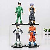 8-17 cm 4 Pezzi/Set Dragon Ball Z Super Saiyan Son Goku Gohan Vegeta Trunks Yamcha Tien shinhan Figure in PVC Giocattoli da Collezione con Tien shinhan-B