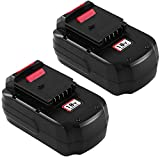 2Packs 3.6Ah Ni-Mh PC18B Replacement for Porter Cable 18V Battery PCC489N PC18BLEX PCMVC PCXMVC Compatible with Porter Cable PC18B-2 18-Volt Cordless Tools Batteries