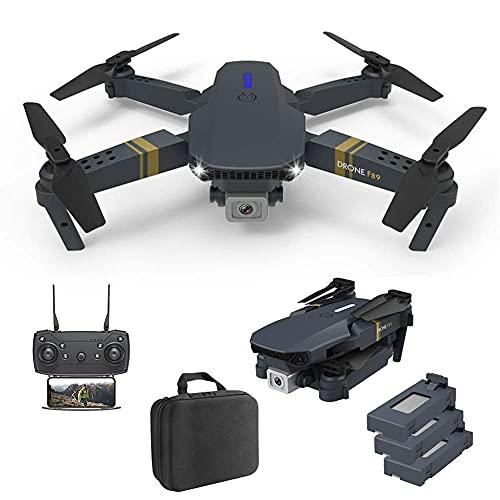 FPV WiFi Drone Quadcopter Pieghevole Doppia Fotocamera con 3 batterie modulari Controllo App Decollo e atterraggio con Una Chiave Capovolgimenti a 360 ° e modalità Senza Testa