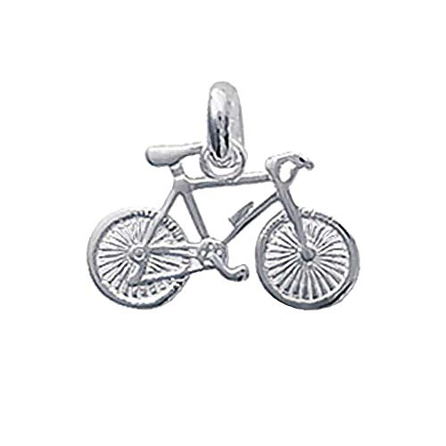 NKlaus Silber Original 925er Sterlingsilber Ketten Anhänger Fahrrad Bike 9x17mm 5117