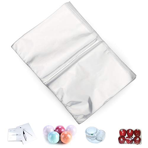 COQOFA POF Heat Shrink Wrap Bags 7x10 inch 100 pcs Clear Non Toxic Soft DIY and Industrial Packaging Plastic Sealer Film with Tiny Air Vent Holes 100 Gauge