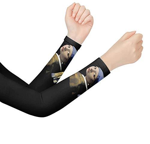 niawmwdt Sternennacht Kunst Muster Arm Kompressionshülsen Uv-Schutz Radfahren Unisex Kühlung Sonnenhülsen Atmungsaktive Sport Handabdeckung-2Pcs-03_Women_China
