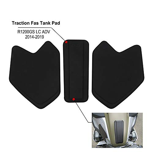 Motorcycle Tank Protector, Traction Gas Tank Pad For BMW R1200GS LC ADV 2008-2017 - Black
