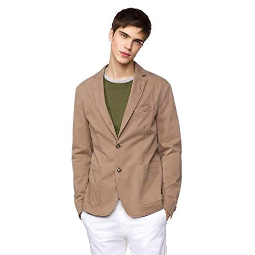 United Colors of Benetton Giacca Abrigo, Beige (Tortora 04b), XX-Large (Talla del...