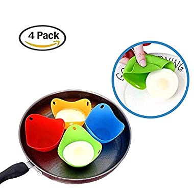 Egg Poacher – Verna's Bazaar Silicone Egg Poaching Cups, For Microwave or Stovetop Egg Cooking, Set of 4(Random Color)
