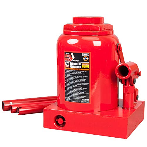 BIG RED T93007 Torin Hydraulic Stubby Low Profile Welded Bottle Jack, 30 Ton (60,000 lb) Capacity