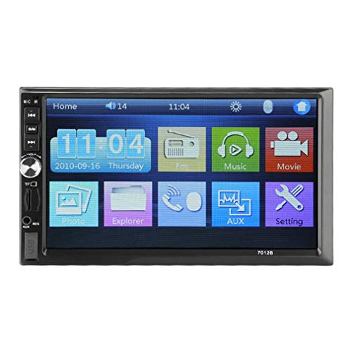 Ymxcwer85851 7012B 7'Pulgadas Doble 2DIN Coche MP5 Player BT Pantalla táctil Radio Multimedia (Negro)
