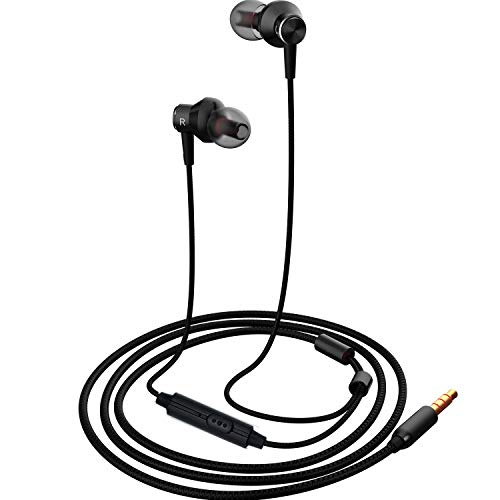 Earbuds headphone,MR01 Comfortable& Tangle-Free stylish wired in-Ear Headphone with Crystal Clear Sound and Powerful Bass for iPhone/Smartphones/Computer/laptop,Black