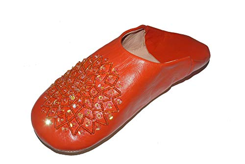 Marrakech Accessoires Orientalische Schuhe Babouche Hausschuhe Pantoffel Slipper aus Marokko - Damen - 905363-0038, Schuhgrösse:39
