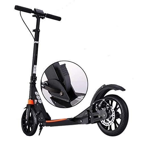 SCOOTERYW Unisex-Handbremse für Erwachsene für Fußroller, faltbarer Pendler-Roller, doppelt gefedert, Tragkraft 100 kg, nicht elektrisch