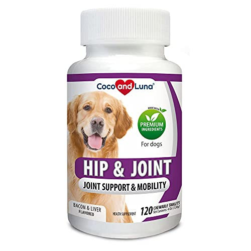 Glucosamine for Dogs, Hip and Joint Support for Dogs, MSM, Chondroitin, Pain Relief from Arthritis, Joint Inflammation and Dysplasia, for Healthy Cartilage and Mobility