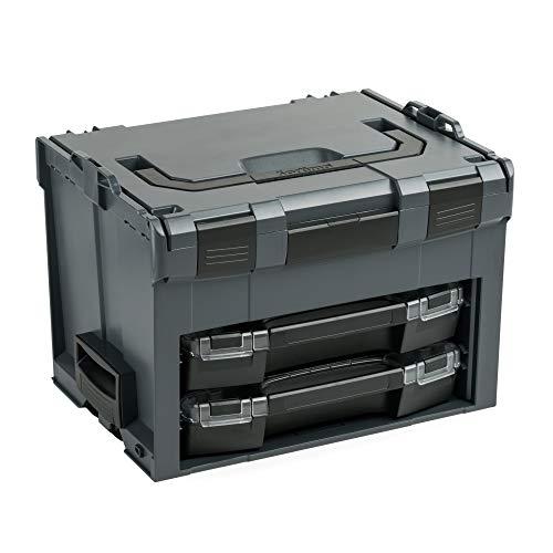 Bosch Sortimo Werkzeugkoffer-Set LS-BOXX 306 anthrazit bestückt mit 2x i-BOXX leer   Transportsystem Werkzeug   Ideale Werkzeug Aufbewahrung Box