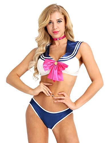 dPois Disfraz Marinero Mujer Sexy Uniforme Escolar...