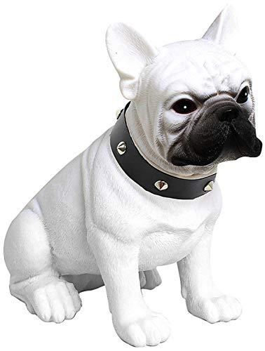 Bulldog Speaker,Bulldog Portable Speaker,French Bulldog Speaker,Gift to Friends Boy Girl Birthday Christmas, Suitable for Mobile Phones, Laptop, Tablets, TV Bluetooth Speakers,White,L