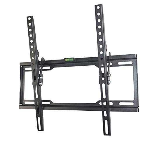 Invinld Soporte de Pared for TV 21-55' Pantalla LED/LCD/Plasma/Curva Televisión Carga Máxima 50kg Ultra Delgado Soporte de TV VESA Máxima 400×400mm (Color : Black, Size : 46.2 * 19 * 3.2cm)