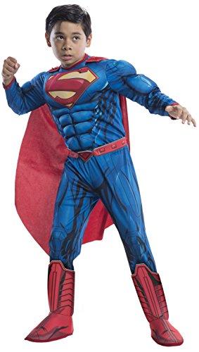 Rubie's Costume DC Superheroes Superman Deluxe Child Costume, Medium