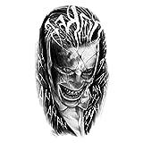 YLGG Etiquetas engomadas temporales del Tatuaje de la Moda del Payaso, adecuadas para Hombres y Mujeres, Impermeables, extraíbles