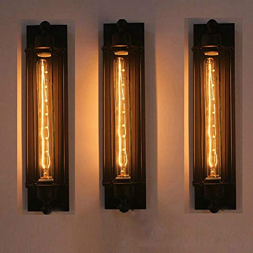FLTRADE Wandlampen Flurlampe Edison Vintage Retro Metall Cafés Antike Wandleuchter Tube-Käfig Loft Beleuchtung warmweiß Mit 4W LED