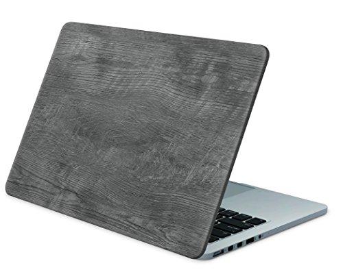 """Skins4u Laptop Aufkleber Universal Skin Netbook Sticker für bis zu 15,6\"""" Displays in 38,1x26,7cm - Grey Woodgrain"""
