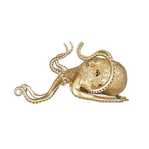 ALMAK Soporte de pulpo, Soporte de teléfono móvil de forma de animal dorado, soporte de tableta de teléfono de escritorio Soporte de teléfono de pulpo Decoración de oficina en casa