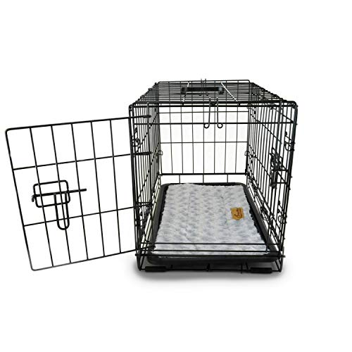 PETSWORLD Single Door Dog Crate, 42 inch w/Divider + Dog Bed Included