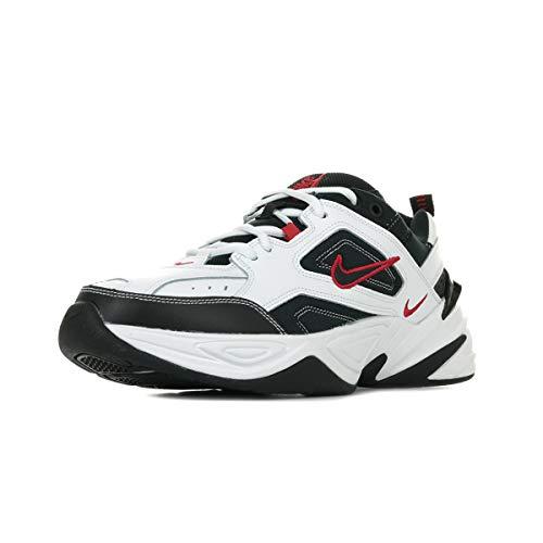 Nike M2K Tekno, Scarpe da Ginnastica Uomo, Multicolore (White/Black/University Red 104), 40 EU