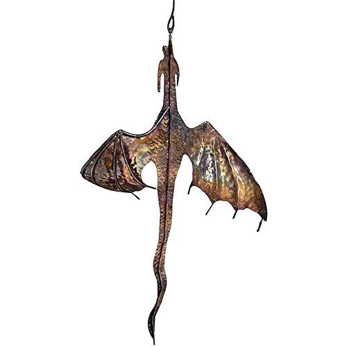Cacciatore di vento del drago Girandola del vento del drago, Pendente della decorazione del drago di ferro Decorazione del cacciatore di vento del drago, Mulino a vento da cortile, Girandole (Drago)