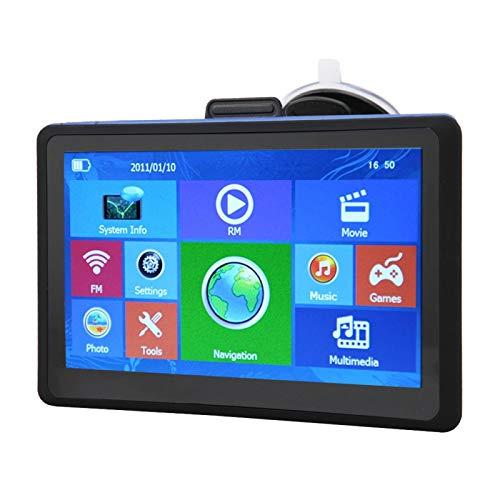 Navegador GPS para camiones Navegador GPS de 7 pulgadas Navegador GPS ROM Bluetooth Localizador, Camión Coche, Navegación