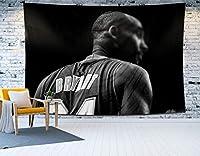 バスケットボールタペストリーKo-Be 24#壁掛け、タペストリー背景リビングルームのベッドルームドミトリーアパートメントホームビーチマットドームファブリックスタジオカーテンポスター E