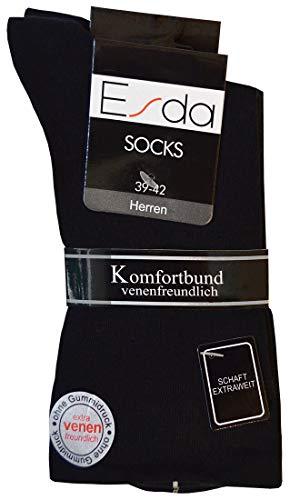 Esda - Herren Trichtersocke schwarz (extra venenfreundlich) 2er Pack 39-42