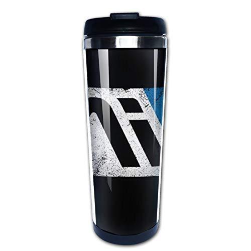 Mass Effect Andromeda Initiative tazas de café de acero inoxidable botella de agua taza taza de viaje taza de café vaso con tapa a prueba de derrames gráfica taza de viaje 400 ml