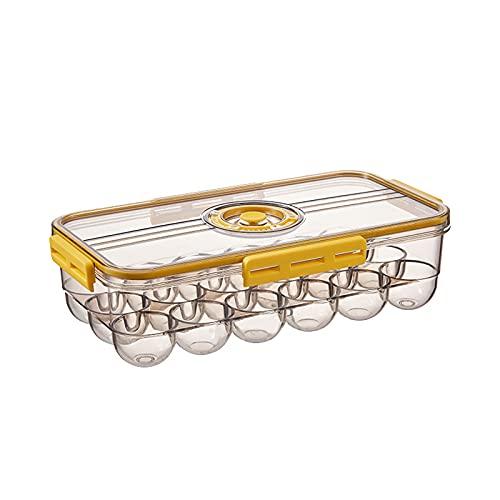 Felenny Soporte de Huevo de Plástico de Cocina Estuche de Huevo de Nevera Soporte de Huevo Apilable Caja de Almacenamiento de Huevo Contenedor con Tapa Soporte de Huevo de Cocina